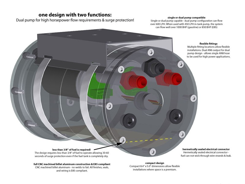 Scienceofspeed High Flow Fuel Surge Tank Fuel System Components