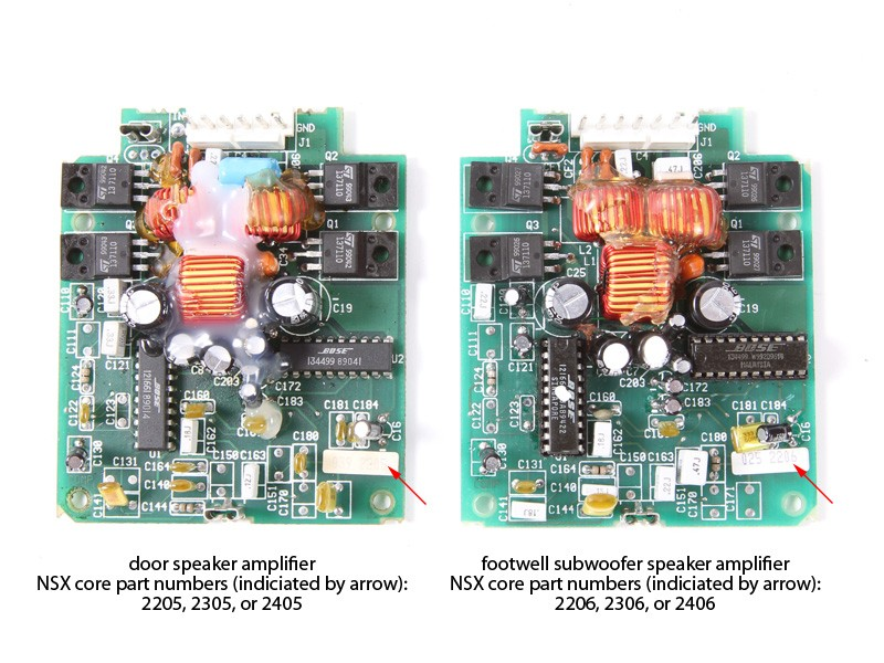 Factory Bose Amplifier Repair - NSX, 1991-05 - Stereo System