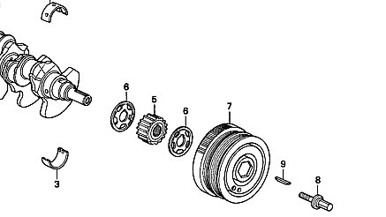 Genuine Honda Crankshaft Pulley