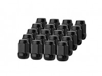 Black Hex Wheel Lug Nut Set for Factory Wheels (set of 20) - NSX, 1991-05 & S2000, 2000-09